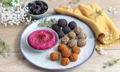 This Falafel Trio and Beetroot Hummus Plate is the Answer to Your Summer Snack Cravings
