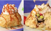 Cinnamon Fried Ice Cream With Hidden Chocolate Bombs