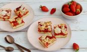 Afternoon Delight: These Crunchy, Sweet Strawberry Bars will Brighten Up Your Day