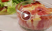 VIDEO: Cheesy Linguini Bacon Cups