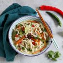Japan Meets Thailand in this Aromatic Chicken Noodle Soup