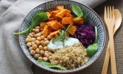 Wholesome Chickpea & Sweet Potato Buddha Bowl with Creamy Chive Dressing