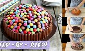 The Ultimate M&M and Chocolate Finger Birthday Cake