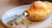 VIDEO: Super Cheesy Chorizo Baked Potatoes