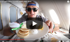 VIDEO: What a $21,000 First Class seat really looks like
