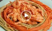 VIDEO: Rainbow Shrimp Pasta