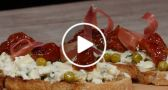 VIDEO: Blue Cheese Bruschetta