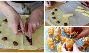 Eat and go to breakfast heaven with these mini Nutella croissants