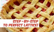 How To Weave the Perfect Lattice-Top Strawberry Pie