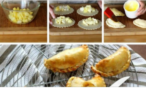 How to make Brie and apple empanadas step by step