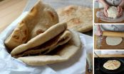 Homemade stovetop pita bread in 6 easy steps