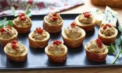 Potato Cups With Blue Cheese And Sun-Dried Tomatoes