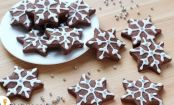 Chocolate Snowflake Shortbread Cookies