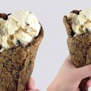 This summer, we're eating ice cream in chocolate chip cookie cones