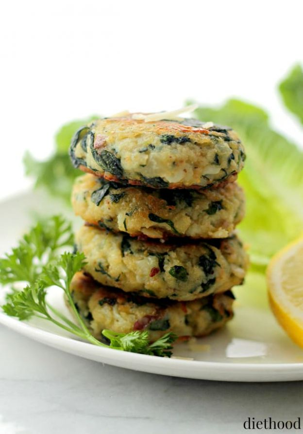 Spinach and Garlic Potato Patties - © Diethood