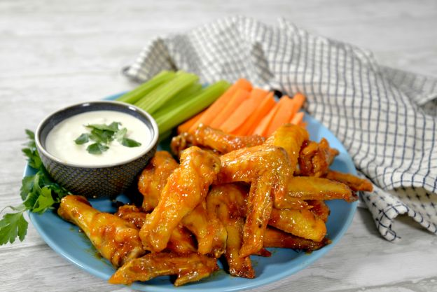 Spicy Honey-Lime Buffalo Wings in the Air Fryer