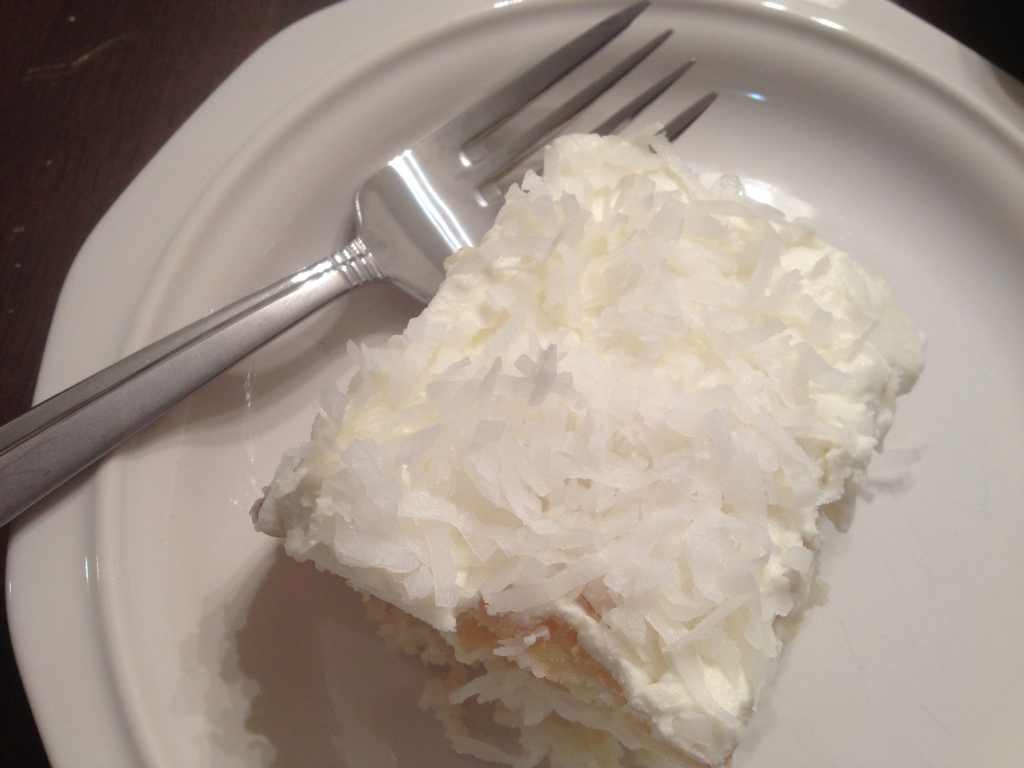 Hot Milk Cake With Coconut Topping