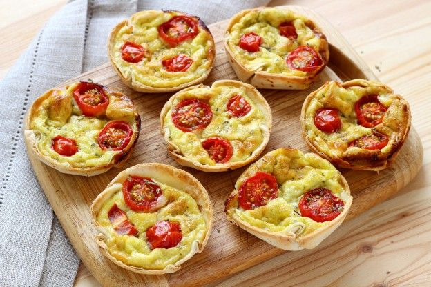 Tortilla mini quiches