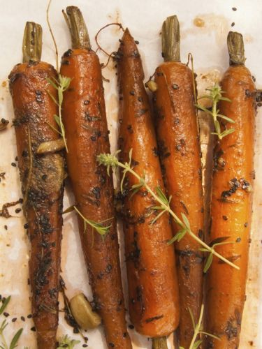 Carrots with maple syrup