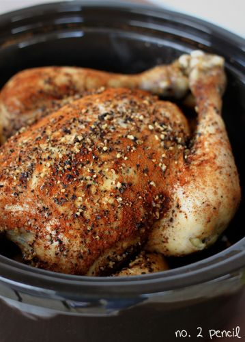 Whole Slow Cooker Chicken