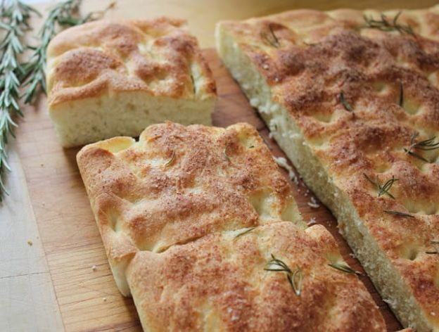 Homemade Focaccia Bread With Rosemary