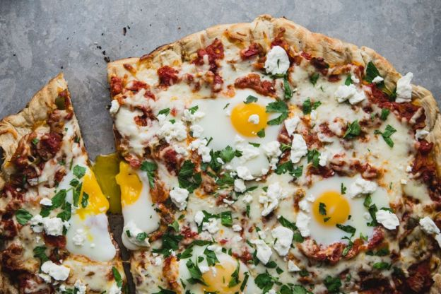 Grilled Shakshuka Pizza