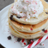 Peppermint Chocolate Chip Pancakes