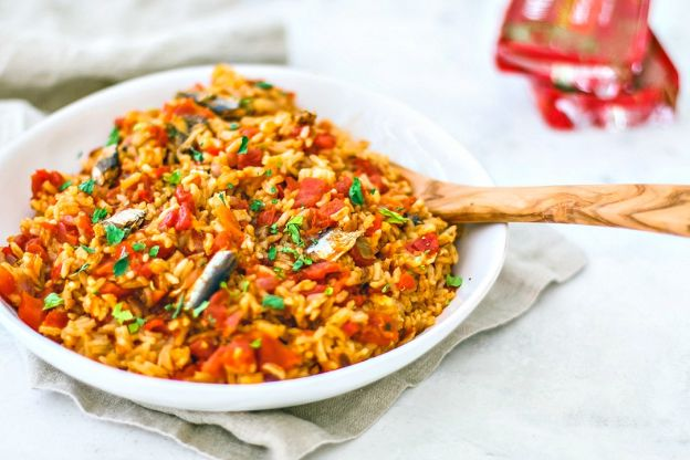 Instant Pot Spanish Rice with Sardines in Tomato Sauce