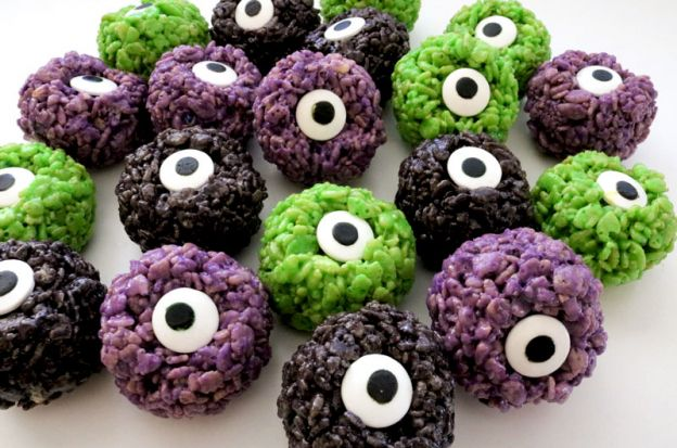 Monster Eyeball Rice Krispies