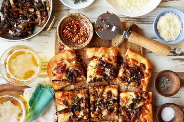 Caramelized Onion Beer Focaccia