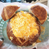 DISNEYLAND: CHILI MAC N CHEESE BREAD BOWL