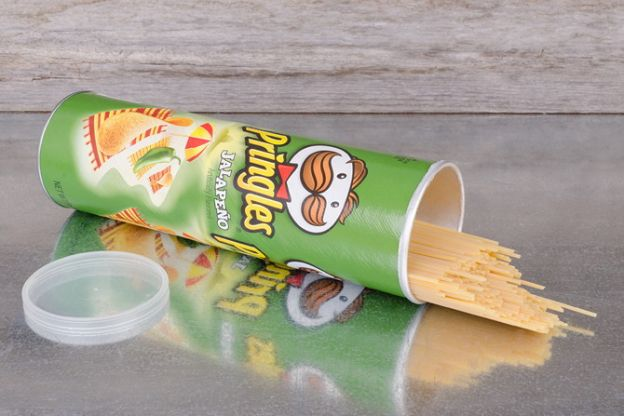 STore LEftover Spaghetti In a Cleaned, Empty Pringles Can