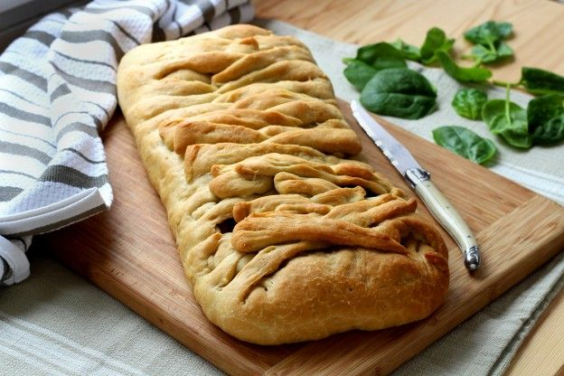 Stuffed pizza braid