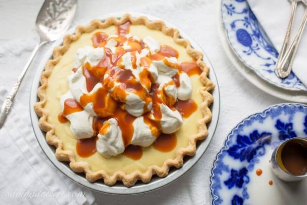 Vanilla Cream Caramel Pie