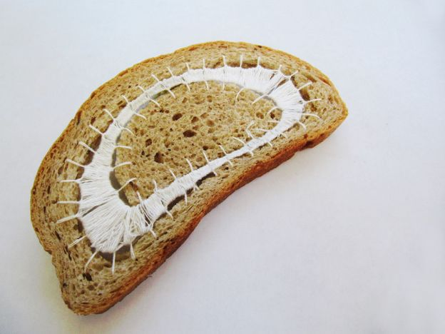 embroidered bread