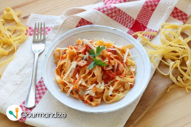 Easy Fresh Homemade Tagliatelle