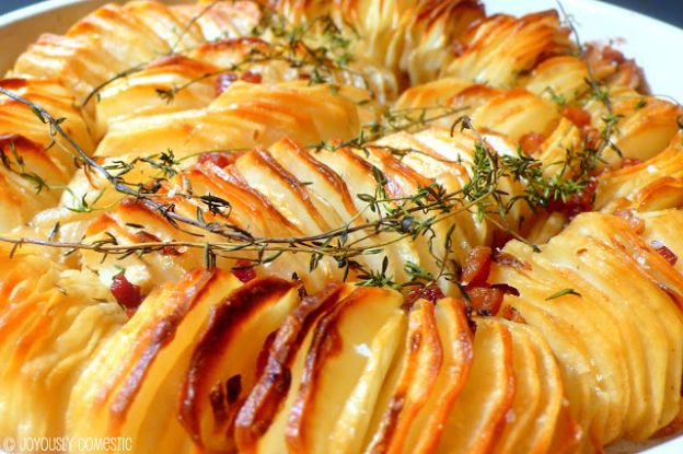 Glorious potato and pancetta roast
