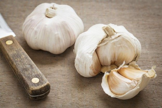 Peel garlic cloves