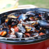 Easy Mussels in Tomato Basil Wine Sauce