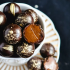 Bailey's salted caramel dark chocolate truffles