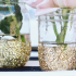 Make DIY glitter vases