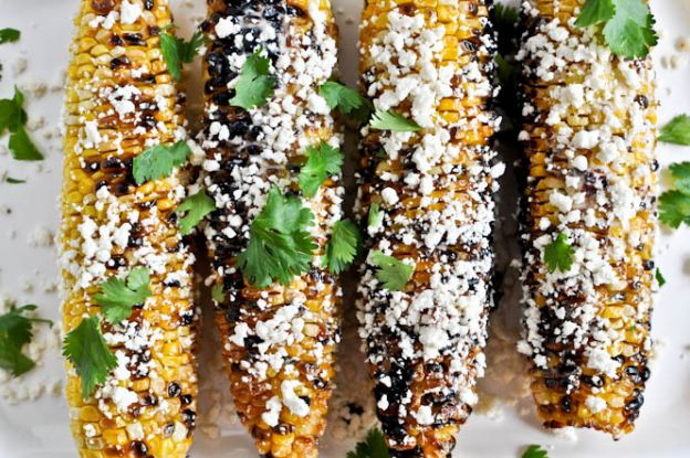 Grilled Corn with Bacon Butter and Cotija Cheese
