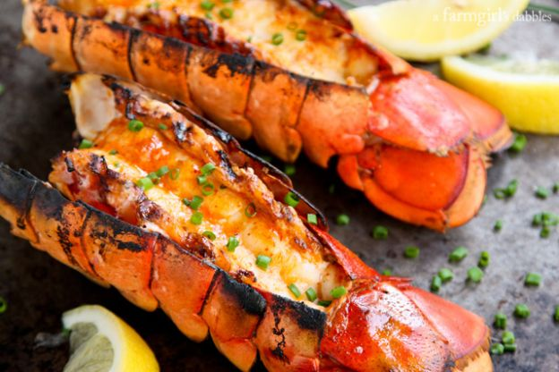 Grilled Lobster with Sriracha Butter