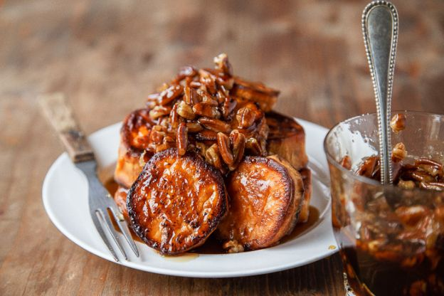 Sweet Potatoes with Maple-Pecan Sauce
