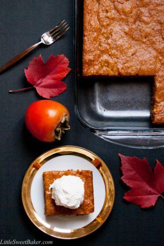 Fresh Persimmon Cake Recipe — Dishmaps
