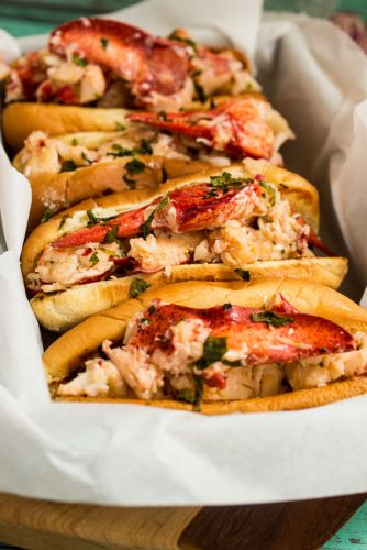 Lobster Rolls with Lemon Herb Butter