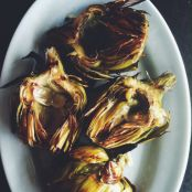 Grilled Artichokes with Garlic Lemon Aioli - Step 3