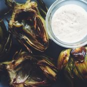 Grilled Artichokes with Garlic Lemon Aioli - Step 4