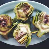 Grilled Artichokes with Garlic Lemon Aioli - Step 2