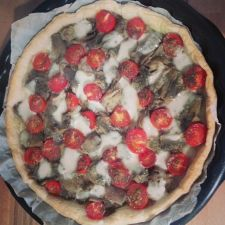 Cherry Tomato and Artichoke Tart